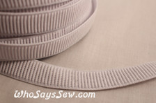 2.5cm  ribbed non-roll elastic