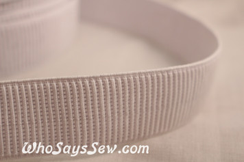 3.8cm  ribbed non-roll elastic