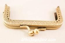 8.5cm Square  Antique Brass Purse frame