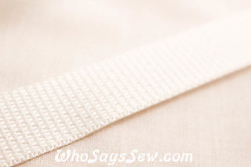 White Polyproplene Webbing by the Metre in Widths 20mm- 50mm