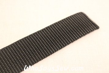 Black Polyproplene Webbing by the Metre in Widths 20mm- 50mm