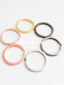 "4x 2.5cm(1"") Round Flat Split Rings in 6 Finishes. Great Quality."