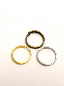 20x 1cm Round Split Rings in Silver, Antique Brass OR Gold. Thin Wire.