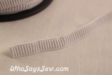 1.2cm  ribbed non-roll elastic