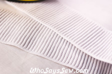 5cm ribbed non-roll elastic
