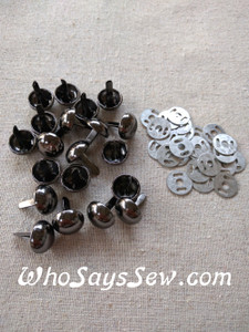 20 Large Dome Bag Feet in Gunmetal or Antique Brass. 15mm. Come with Washers