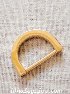 "5x 2cm(3/4"") REAL GOLD Plated Alloy D Rings- ""Classy"""