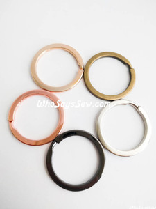 "2.8cm (1.1"") Round Flat Split Rings in 5 Finishes. Great Quality."