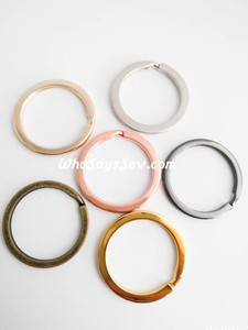 "3.3cm (1.3"") Round Flat Split Rings in 6 Finishes. Great Quality."