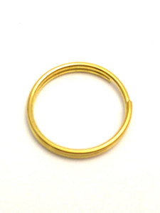 20x 1.6cm Round Split Rings in Gold. Thin Wire.