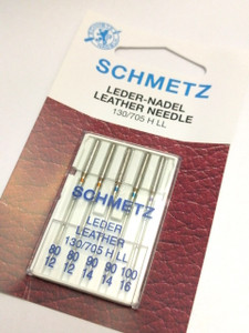 Schmetz LEATHER Needles in Various Sizes. Great for Leathers, Vinyls, Corks