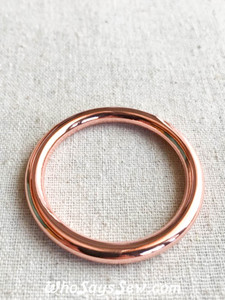 "3.8cm (1 1/2"") Alloy Round Edge O-Rings in Rose Gold"