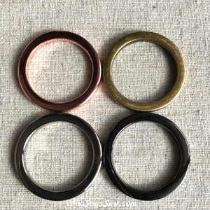 "2.9cm (1 1/8"") Alloy Cast Flat Square Edge O-Rings in SILVER, ROSE GOLD, GOLD, GUNMETAL, ANTIQUE BRASS. NICKEL FREE"