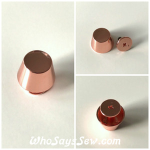 "*BULK 100 PCS* ROSE GOLD Large 15mm/1.5cm/ 5/8"" Alloy Bucket Bag Feet. Screw Back. High Quality. Nickel Free."