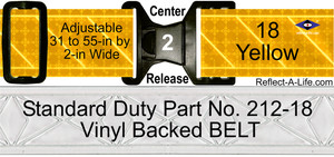 Belt Yellow Daytime Standard Duty 2-in Center Release Buckle