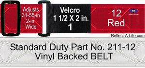 Belt Red Standard Duty 2-in Velcro 1 1/2 X 2-in Fastener