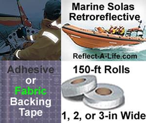 Marine Solas Retro Reflective Tape 150ftx2in