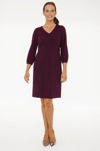 Sylvie Blouson Sleeve Lightweight Ponte Dress