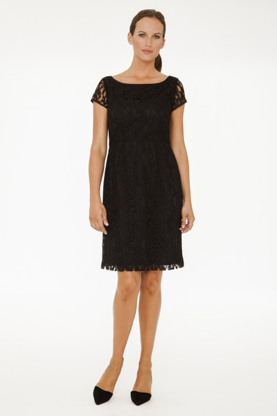 Delphine Lace Dress in Black
