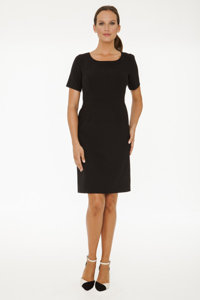 Michele Stretch Suiting Dress in Black