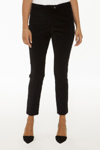 New Stanton Slim Pant in Black Stretch Corduroy