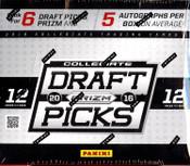 2016 Panini Prizm Collegiate Draft Football Hobby Box