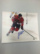 JOAKIM NORDSTROM - Chicago Blackhawks - Autographed 8x10 (Chasing Puck)