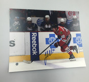 JOAKIM NORDSTROM - Chicago Blackhawks - Autographed 8x10 (Chasing Puck Opposing Team in Backround)