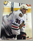 DAVE BOLLAND - Chicago Blackhawks - Autographed 8x10 (On Ice)