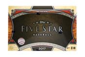 2017 Topps Five Star Baseball Hobby Box