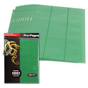 BCW Gaming Side Loading 18 Pocket Pro Pages - Green