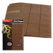 BCW Gaming Side Loading 18 Pocket Pro Pages - Brown