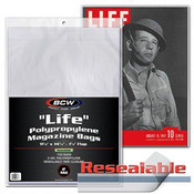 BCW Resealable Life Magazine Bags
