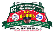 RAY BURRIS Autograph Ticket (September 24, 2017 10:30-12, Downers Grove, IL)