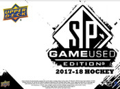 2017/18 Upper Deck SP Game Used Hockey Hobby Box (For Pricing text: UDPRICING to 630-664-6580)