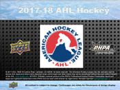 2017/18 Upper Deck AHL Hobby Box  (For Pricing text: UDPRICING to 630-664-6580)