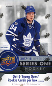 2017/18 Upper Deck Series 1 Hockey Hobby Box  (For Pricing text: UDPRICING to 630-664-6580)