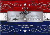 2017 Leaf Sport Icons Cut Signature Hobby Box