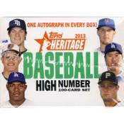 2013 Topps Heritage High Number Series Baseball Hobby Set