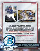2018 Bowman Chrome Baseball Hobby 12 Box Case