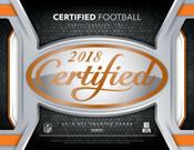 2018 Panini Certified Football Hobby 12 Box Case