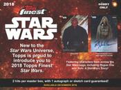 2018 Topps Finest Star Wars Hobby Box