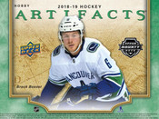 2018/19 Upper Deck Artifacts Hobby Box (For Pricing Text: UDPRICING to 630-664-6580)