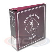 "BCW 3"" Album - Burgundy Baseball Card Album - 12 Album Case"