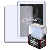BCW 3x4 x 2.75mm Thick Card Topload Holder - 108 pt 100 Pack Case