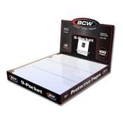 BCW Pro 9 Pocket Page (100ct) Box
