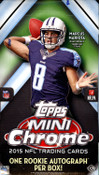 2015 Topps Chrome Mini Football Hobby Box