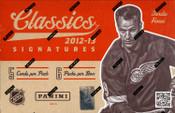 2012/13 Panini Classic Signatures Hockey Hobby Box