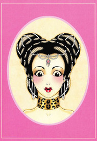Angelique Houtkamp Greeting Card -  Hair Pearls