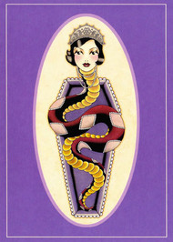 Angelique Houtkamp Greeting Card -  Snake Woman